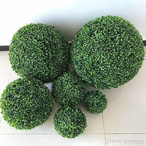 2PCS Large size Green Artificial Plant Ball Topiary Tree Boxwood Wedding Party Home Outdoor Decoration plants plastic grass ball
