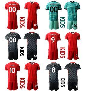 2021 Season Home Custom Kids Kit 66 ALEXANDER-ARNOLD 27 ORIGI 4 VIRGIL 7 MILNER Football Jerseys 11 M.SALAH 9 FIRMINO Boys Uniform Sets