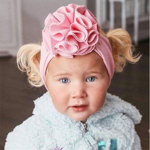 17 Colors Baby Girls Stereo Flower Headband fashion soft Candy Color Bohemia Bow Girl Infant Hair Accessories Headband Z2451