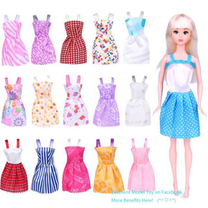 Cute 29cm& 11 Inches Barbie Doll Fashion Short Skirt, Princess Dress, 16 Style Clothes, for Party Christmas Kid Birthday Girl Gift 104, 2-1