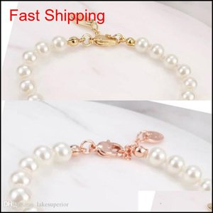 4 Colors Pearl Beaded Bracelet Women Rhinestone Obit Bracelet Gift For Love Girlfriend Fashion qylCVE new_dhbest