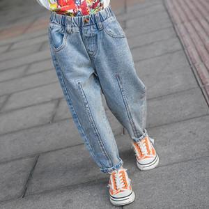 Hosen Mädchen 2021 Frühling Jeans Kind Mädchen 3 5 7 9 10 12 14 Jahre Hohe Taille für Teenager-Mädchen 7 Sekunden Fischmarke