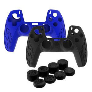 2 PCS Silicone Cover Skin for Sony PlayStation 5 PS5 Controller Case Thumb Stick Grip Cap for DualSense Anti-slip