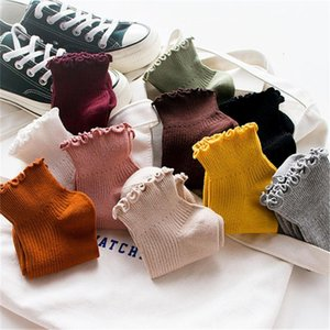 Fashion Lace Ruffles Soft Cotton Women Socks Candy Colors Top Quality Cute Socks Sweet Girl Cozy Lovely Frilled