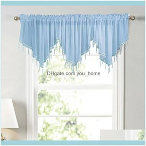 Curtain Deco El Supplies Home Gardencurtain & Drapes 3 Styles Pure Color Triangle Kitchen Curtains Decorative Short Suitable For Kitchens An