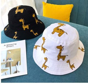 Cartoon Giraffe Baby Hat Bucket Cap Summer Kids Baby Girl Boy Hat Casual Children Sun Hat Cotton Girls Hats Panama Caps