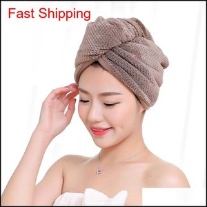 Magic Microfiber Hair Fast Drying Dryer Towel Bath Wrap Hat Quick Shower Cap Turban qylqRc hairclippers2011