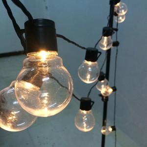 6m 20 Led String String Wedding Fairy Light Christmas LED Globe Festoon Bulb LED Fata String Light per feste Giardino Giardino Garland Dropshipping