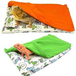 Lizard Cactus Climbing Cotton Nest Gecko with Pillow Blanket Hamster Pet Bed Sleeping Bag