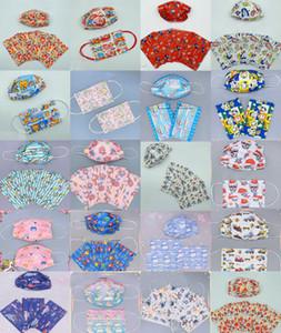 Moda Adulto 3 Capa 95% Eficiencia de filtración Impresión de dibujos animados Máscaras desechables a prueba de polvo Prevención Máscara de influenza PBT Melt-soplado no tejido