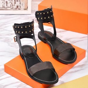 Moda donna sandali pantofole scivola estate appartamenti sexy caviglia stivali alti uomo gladiatore sandalo donna casual scarpe da donna scarpe da donna Spiaggia romana Diapositive di grandi dimensioni 35-42-45