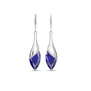 HBP ShipAi Temperamento Lungo stile Super Sparkle Zircone Orecchini Acqua Drop Star Fashion Ear Gancio per orecchio