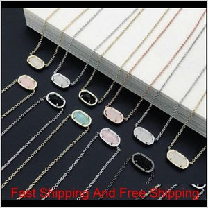 Fashion Kendra Druzy Drusy Necklace Scott Earrings Silver Gold Plated Faux Natural Stone Scott Women Brand Jewelry Gift Sn2Qq Sa6Uv
