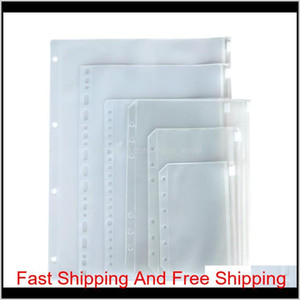A5 A6 A7 Clear Punched Binder Pockets For Notebook 6 Holes Zipper Loose Leaf Insert Bag Pvc Frosted Notebook Pockets Envelop Storage 0 Gtdph
