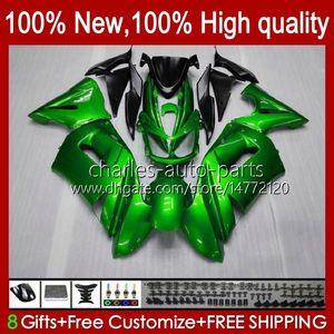 طقم Fairing Kit for Kawasaki Ninja 650R ER 6F 6 F ER6F-650R PEARL GREEN NEW 29HC.13 ER6 F 650 R ER6F 06 07 07 08 ER-6F 2006 2007 2008 كامل الجسم