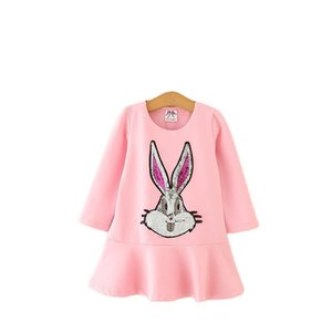 Baby Girl Designer Clothing Princess Dresses Girls 2021 Fall Baby Girls Long Sleeve Dress Cloud Print Kids Pocket Dress