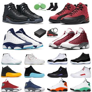 with box 13s basketball shoes jumpman 13 obsidian red flint black cat 11s men women legend blue concord 12s Utility Grind mens trainer