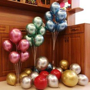 7 tubos / set globo soporte globo soporte cumpleaños valentine fiesta decoración niño adulto arco mesa accesorios de balón suministros