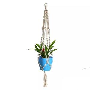 Plant Hangers Macrame Rope Pots Holder Rope Wall Hanging Planter Hanging Basket Plant Holders Indoor Flowerpot Basket Lifting EWA3852