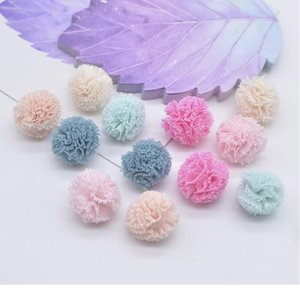 50pcs lot 15mm Colorful Elastic Mesh Chiffon Ball For Diy Children Headwear Bow Accessories Handmade Baby Clothes Hat D qylDTl