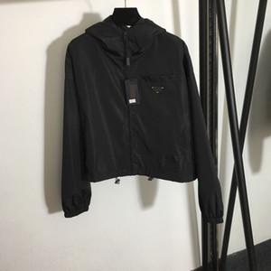 120 2021 Spring Brand Same Style Coat Regular Empire Black Hooded Fashion Casual Coat High Quality meiyi