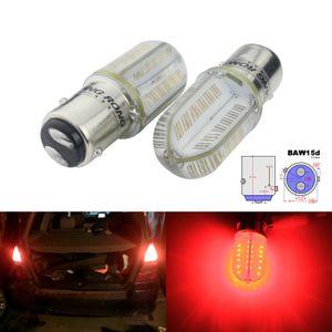 ANGRONG 2x For FORD SAAB GM RED COB LED BRAKE STOP TAIL LIGHT CAR BULB 567 21 5W BAW15D 12V