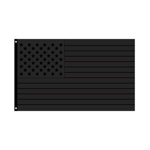 All Black American Flags 2024 Trump Flag 90*150cm Black American Striped Flag 2024 Presidential Election Flags GWB5206