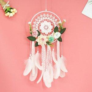 Dream Catcher fai da te pendente decorativo fiore sogno catcher parete appeso decorazione decorazioni da sposa sognante ragazza decorazione della stanza regalo