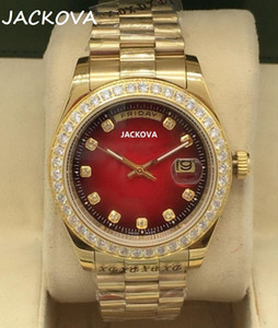 High end men&#39s watch dial diamond automatic mechanical watch fashion men&#39s watch SS waterproof sapphire clock
