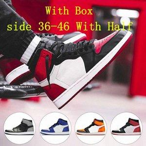 Jumpman 1s Баскетбольные туфли US13 Бескорные мужчины Женщины бегают Обувь гипер королевский университет синий обсидианский unc разбитый backboard 3.0 Sports SSIZE 36 ~ 47 с половиной