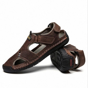 Summer Breathable Flat Men Sandals Fashion Outdoor Casual Beach Mens Shoes Men Soft Leather Sandals Plus Size 38 48 Sandals High Heels V2of#