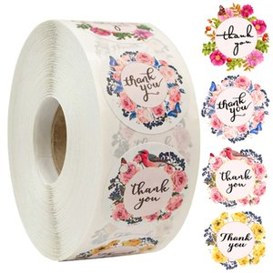 500pcs roll Thank You Stickers Tags for Seal Labels 1 Inch Gift Packaging Label Birthday Wedding Party Sticker