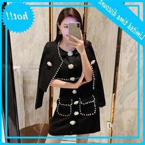 Yeni ağır sanayi tek göğüslü tüvit elbise Fransız takım elbise kadın 9309