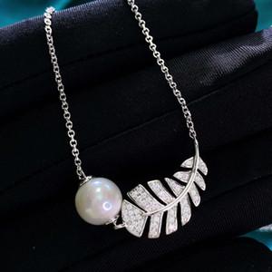 HBP Lujo 2021 Nuevo S925 Collar de plata Small Fragrance Star Pearl Natural Pearl Creative Pluma Colgante