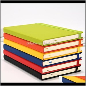 A6 7 Colors Creative Hardcover Notebook Pu Faux Leather Simple Journal Notepad Portable Life Travel Manual Xzntt Wsm1B