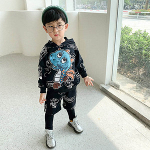 Spring Casual Boys Suits Kids Outfits Cartoon Hoodie+Trousers Pants 2Pcs Girls Sets Children Clothing SM015