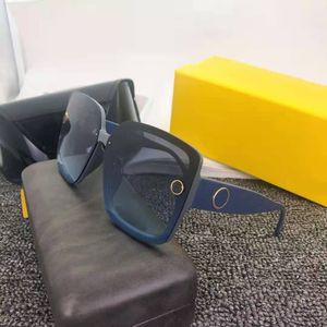 2021 Neue Verkauf Hohe Qualität Classic Pilot Klassische Buchstaben Große Rahmen Frau Sonnenbrille Eyewear Metall Glas Linsen 6 Farbe