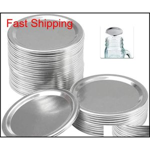 Thermoses Kitchen Storage Housekeeping Organization Home Garden Drop Delivery 2021 Wide Mouth For Mason Jar Canning Lids 70Mm2Dot7 Inches Fas
