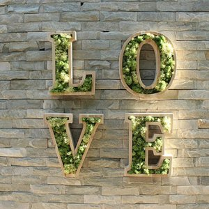 12 Inch Wood Letters Hollowed Out Letter Decoration Advertising Sign Plant Letters Wood Flower Letter Customization DIY Planting