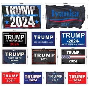 Nuovo 2024 US.S. Campagna presidenziale Trump Bandiera 90 * 150 cm Donald Trump Election Banner Bandiera 3 * 5ft Home Garden Yard Bandiere T9i001156