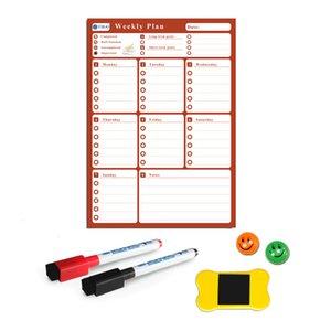 YIBAI A3 Flexible Magnetic board Calendar,30*42cm Dry Earse Magnets Waterproof Plan Message WhiteBoard For Refrigerator Memo 210312
