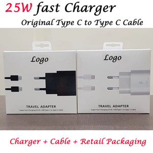25w Super Fast Charging Power Adapter for Samsung Note 10 Super Fast Charger PD PSS Type-c cable For Galaxy Note 10 S10