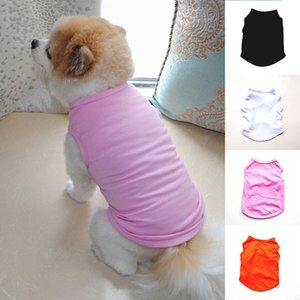 2021 Pet Supplies Clothes Summer T-shirt Black White Dog Vest Cute Sweet Solid Color Comfortable Fashion Pink Thin Shirts