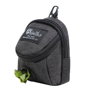 Dog Carrier Poop Bag Holder Waste Dispenser With Zipper For Leash Pets Zippered Pouch Portable Travel