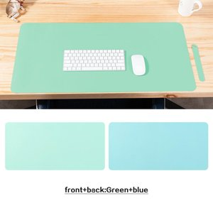 Mouse Pads & Wrist Rests Large Pad Double Sided Color Non-Slip Desk Waterproof PU Leather Table Protector Gaming Mat For Game Office