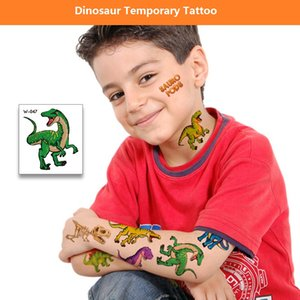 W-series Dinasour Temporary Tattoo Sticker Waterproof Body Art Arm Leg Tattoo Stickers festival gift Health Beauty Product BF411