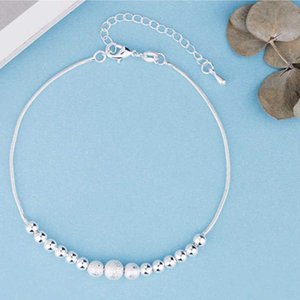 Link, Chain Korean Fashion Jewelry Lady Metal Bracelets Plated With Silvery Exquisite Ball Bracelet For Women