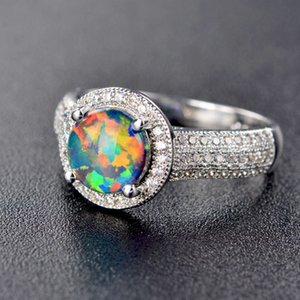 HBP spring new colorful stone Aobao boutique ring fashion noble luxury jewelry set