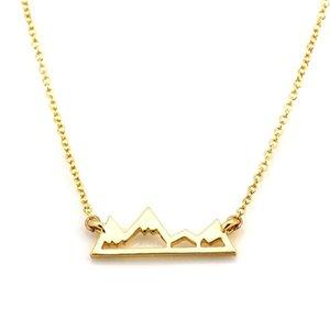 Neue Goldfarbe Lange Kette Der Hügel Anhänger Halskette Boho Collier Femme Fashion Charme Halsketten Für Frauen Beste Geschenk Choker