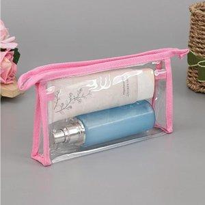 Clear Travel Sac de toilette transparent étanche Lavage de lavage de la peau Articles de soin de la peau Cosmétiques Maquillage de maquillage Storage Pochette pour femme YHM450
